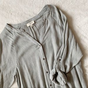 Umgee Grey Button-Down Dress